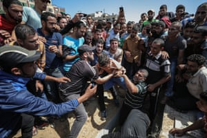 Gaza City, Gaza Strip Palestinian mourners