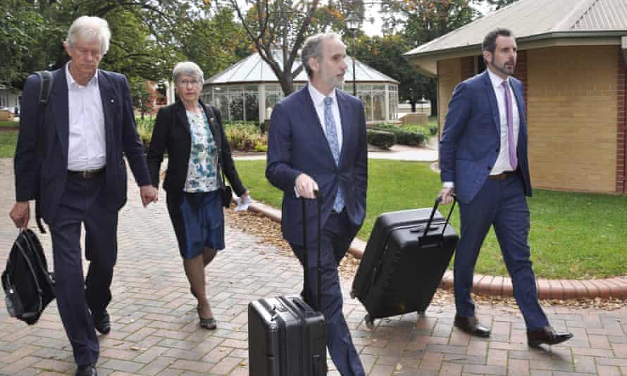 Barbara Eckersley arrives at the supreme court in Goulburn, Australia