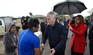 Malcolm Turnbull meets flood-hit farmers in Virginia, South Australia