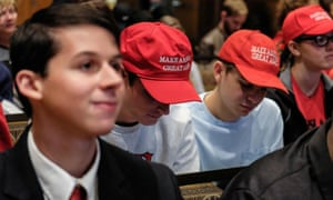 Student members of Turning Point USA, known as Donald Trump's youth wing, at a meeting at Ohio State University