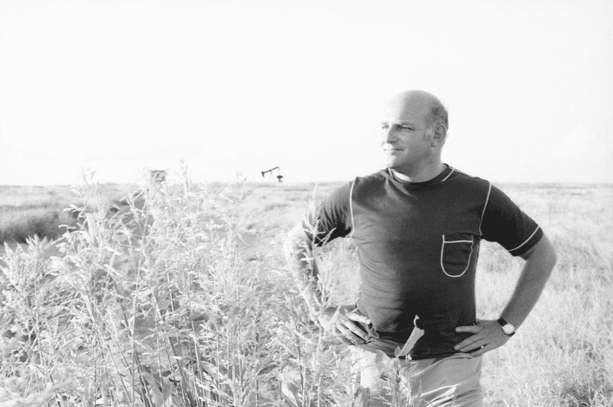 John Schlesinger in Big Spring, Texas.