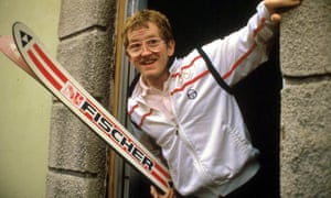 Eddie 'the Eagle' Edwards was last in the ski jumping at the 1988 Winter Olympics in Calgary, Canada.