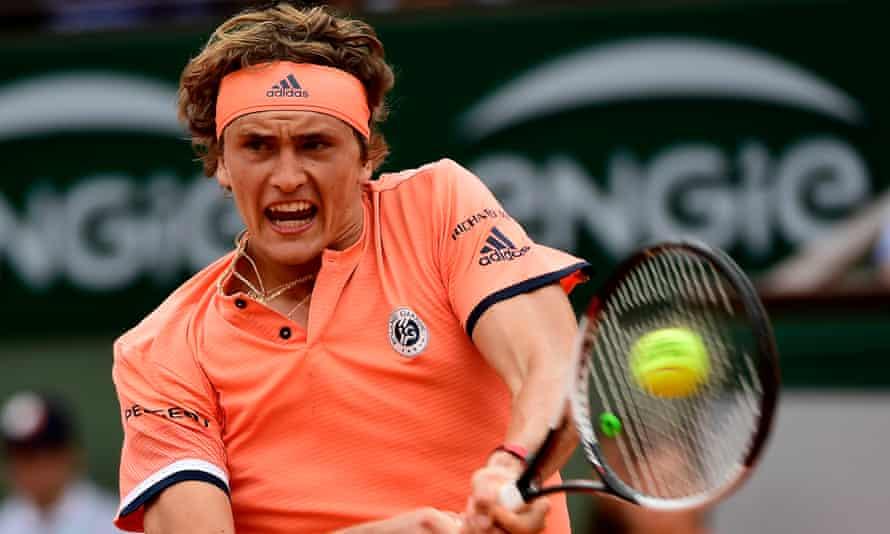 Alexander Zverev at Roland Garros on Friday