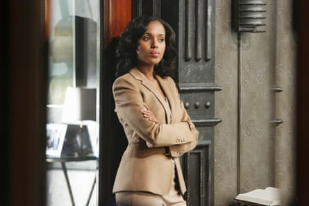 As Olivia Pope in Scandal, which ran for seven seasons, from 2012 to 2018.