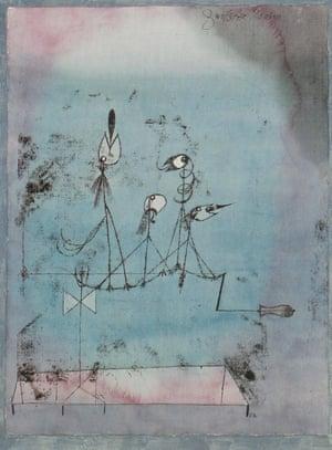 Twittering Machine, 1922, by Paul Klee.