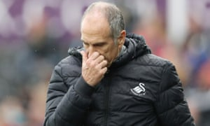 Francesco Guidolin during the defeat to Liverpool, his final game in charge of Swansea.
