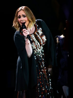 Charm offensive … Adele.