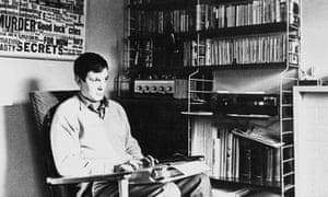 Joe Orton working at his flat in London, circa 1966.