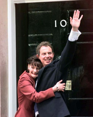 Tony Blair after winning the 1997 election.