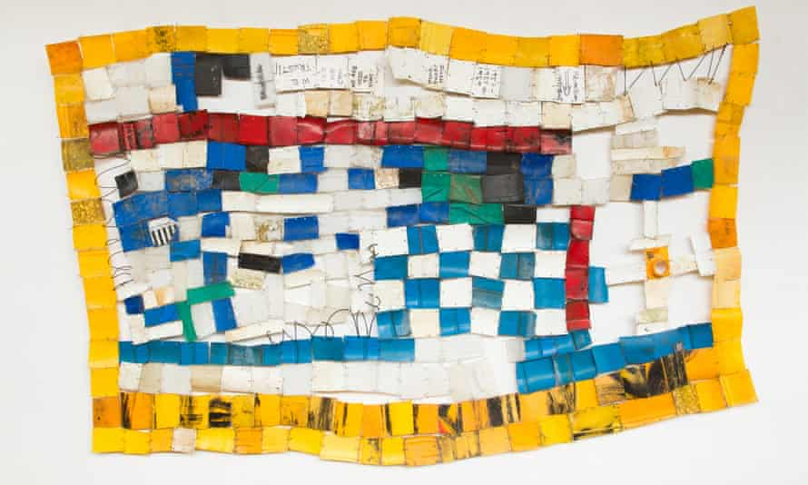 Serge Attukwei Clottey uses his art installations to educate local communities about pollution and waste.