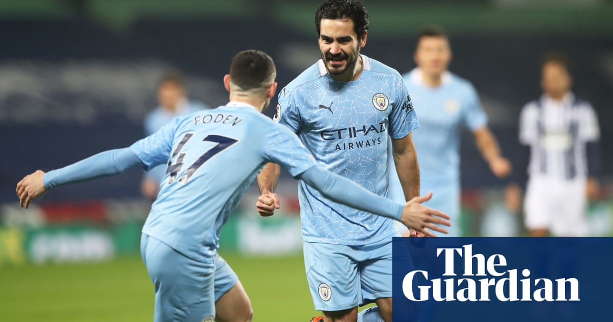 Manchester City go top after Gündogan turns on style in 5-0 rout of West Brom