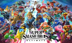 the artwork for Super Smash Bros Ultimate, coming soon for Nintendo Switch.
