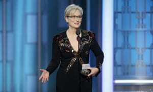 Meryl Streep criticized Trump while accepting the Cecil B DeMille Award at the 74th Annual Golden Globe Awards