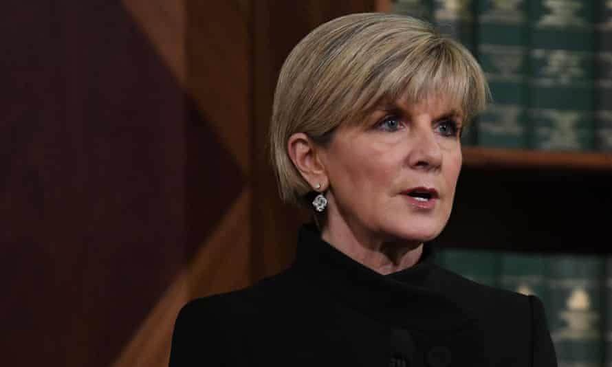 "Foreign minister Julie Bishop has been accused of ""descending into a whirlpool of hysteria and conspiracy theories""."