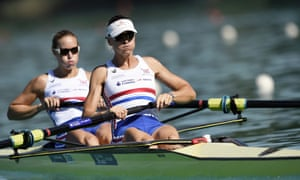 Helen Glover, left, and Heather Stanning in the rowing coxless pairs