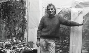 Clyde Hopkins at work in his Greenwich studio in 1986.