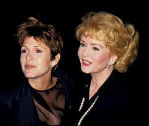 Fisher and Reynolds at the New York premier of The Unsinkable Molly Brown at Pantages Theater.