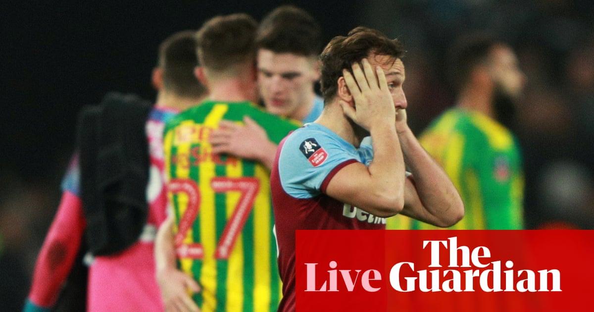 FA Cup: West Ham 0-1 West Brom, Southampton 1-1 Tottenham – live!