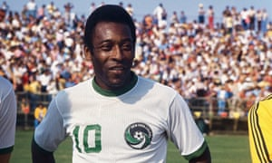 Pele in his Cosmos No 10 shirt. 'Love is more important than what we can take in life.'