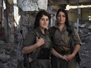 Evîndar and Nûdem, PKK guerrillas.