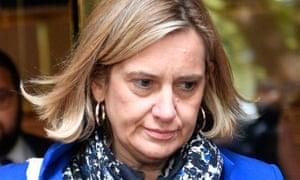 The former home secretary Amber Rudd
