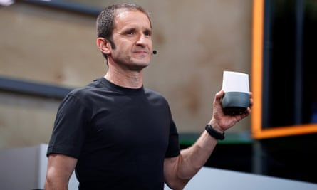 Mario Queiroz introduces Google Home during the Google I/O 2016 developers conference in Mountain View, California.