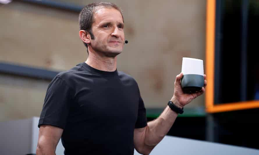 Mario Queiroz introduces Google Home during the Google I/O 2016 developers conference.