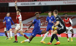 Chelsea's Tammy Abraham pulls a goal back fro the visitors.