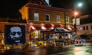 The George Floyd Memorial is seen in September last year, outside of Cup Foods located at 38th Street and Chicago Avenue in Minneapolis.
