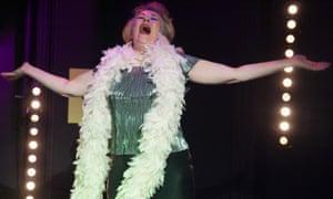 Abrasive disco queen … Jilly Bond as Ginnie in Imaginationship.