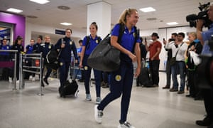 Media greeting their return at Edinburgh airport was a new experience for the Scottish women's football team.