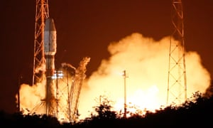 The European Cheops satellite takes off from Kourou, French Guiana early on Wednesday.