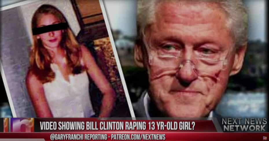 A video by the Next News Network fed on debunked allegations against Bill Clinton.