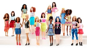 The full range of Barbie's Fashionistas.