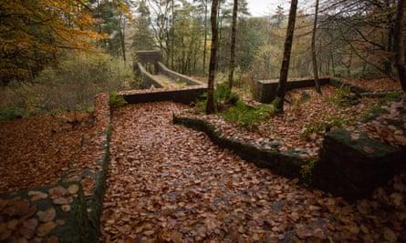 Above the Seven Arch Bridge, Rivington Terraced Gardens near Chorley, Horwich, Blackburn, Darwen, Belmont in Autumn