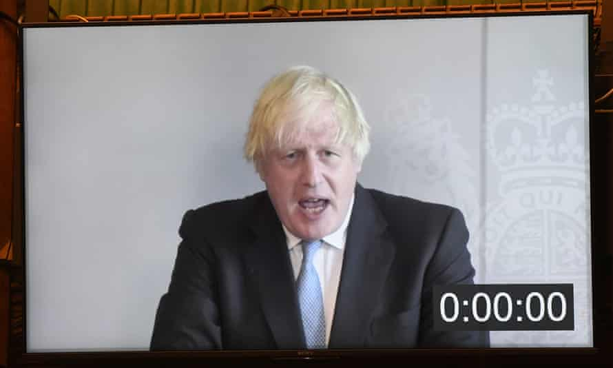 Boris Johnson joins PMQs remotely while self-isolating