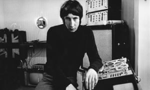 Pete Townshend … Leaning on the tape recorder he used for his demos, we are told.