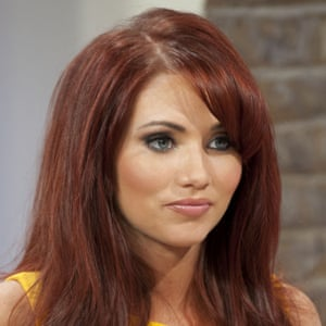 Towie's Amy Childs sported the tattooed brow.