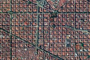 Eixample district in Barcelona, Spain