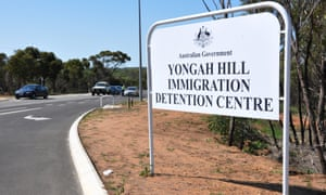 A sign for Yongah Hill Immigration Detention Centre