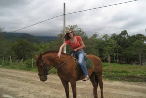 The author Jane Cornwell in Colombia.