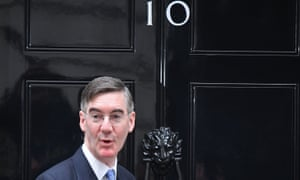 Jacob Rees-Mogg arrives in Downing Street on October 23.