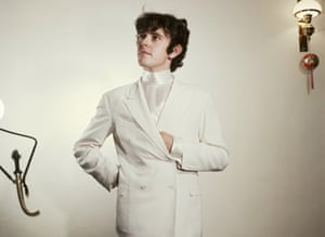 Donovan in a white suit