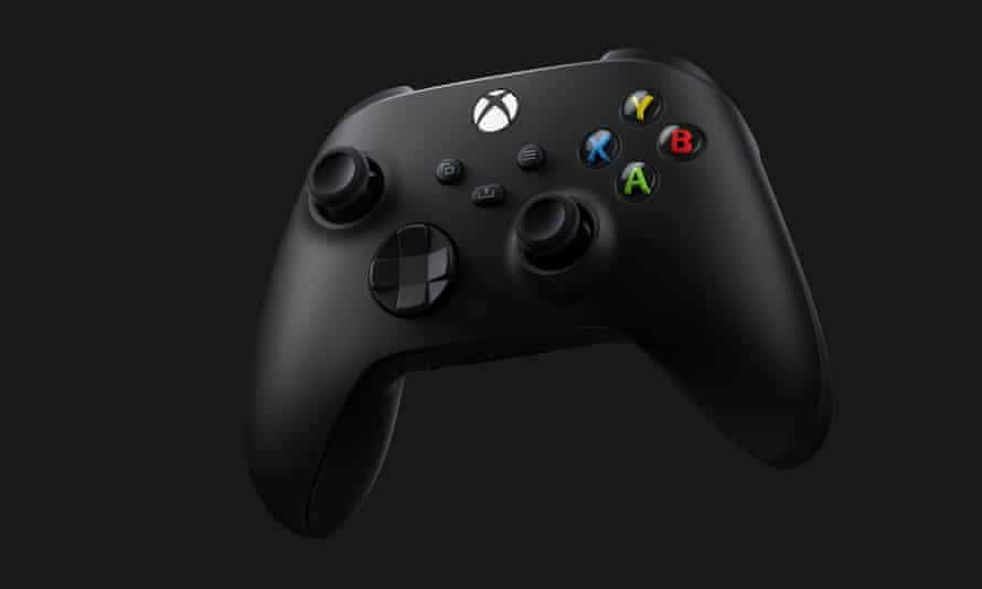 The Series X controller.