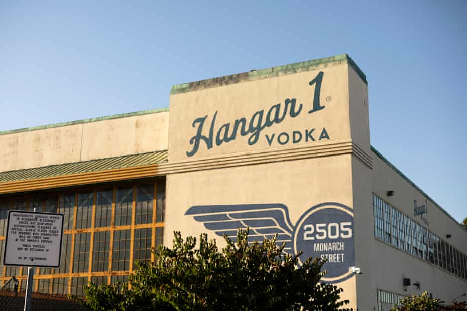 The outside of Hangar 1 distillery, which is located just across the bay from San Francisco.