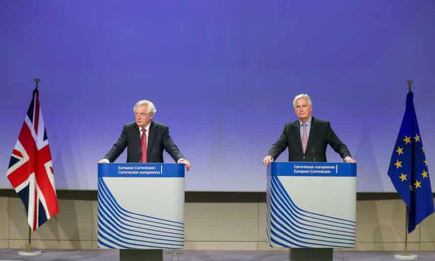 David Davis and Michel Barnier,