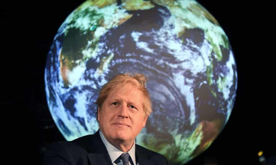 Boris Johnson reacts during an event to launch the United Nations' climate change conference, Cop26, in London, 4 February 2020