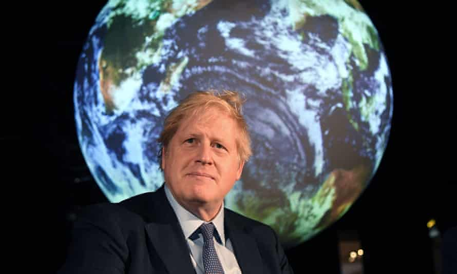 File photo taken on 4 February 2020 of Boris Johnson at an event to launch COP26 in London