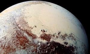 The 1,000-kilometre-wide plain known as Sputnik Planitia.