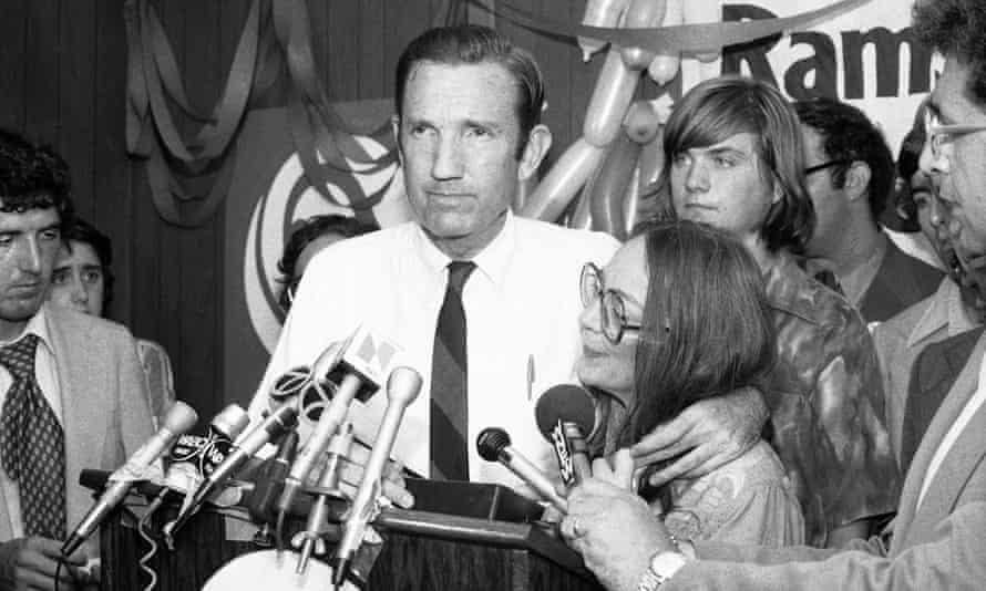 Ramsey Clark campaigning for the Democratic nomination for the Senate in New York, 1976.